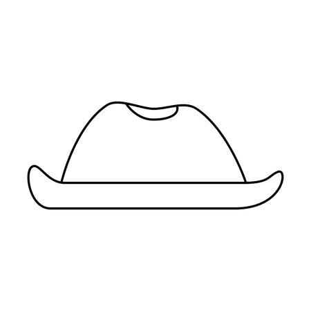 cowboy hat isolated icon vector illustration design Ilustração