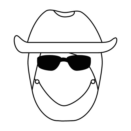 帽子アバターキャラクターベクトルイラストデザインのセクシーなモーターサイクリスト