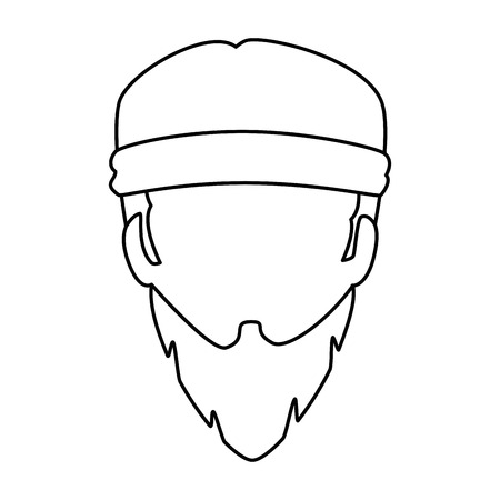 Motorcyclist head icon.
