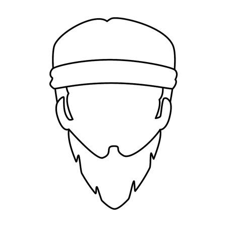 Motorcyclist head icon.