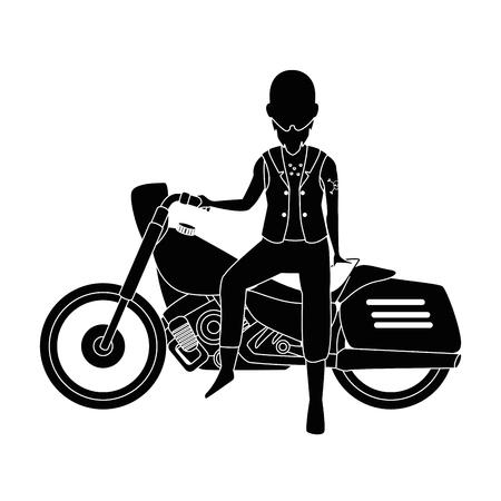 Motorcyclist avatar character vector illustration design