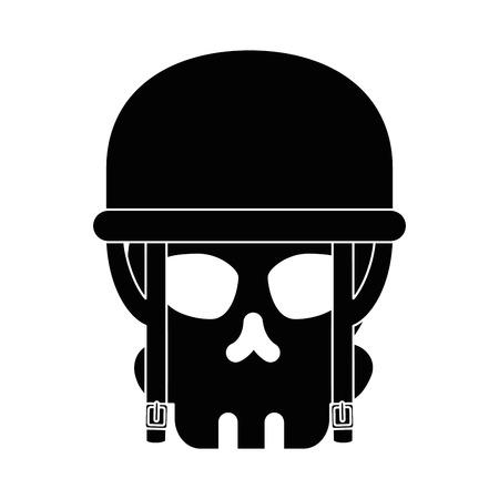 Extreme schedel met ontwerp van de helm het vectorillustratie Stock Illustratie