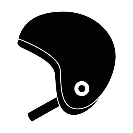 Motorcycle helmet classic icon vector illustration design