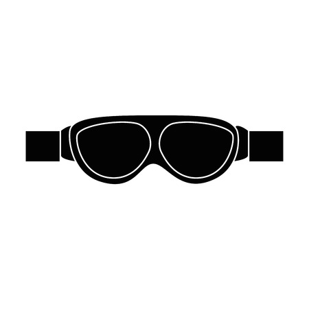 biker goggles  isolated icon vector illustration design