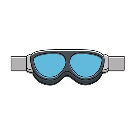 biker goggles  isolated icon vector illustration design