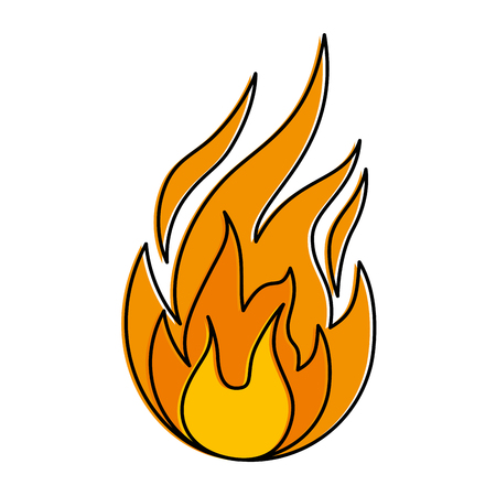 fire flame isolated icon vector illustration design Фото со стока - 92271473