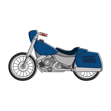 Classic motorcycle vehicle icon illustration design.