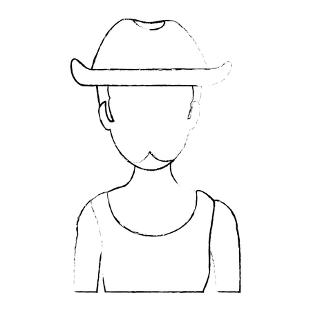 Rough man with hat avatar character