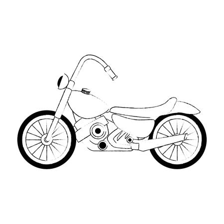 Classic motorcycle vehicle icon