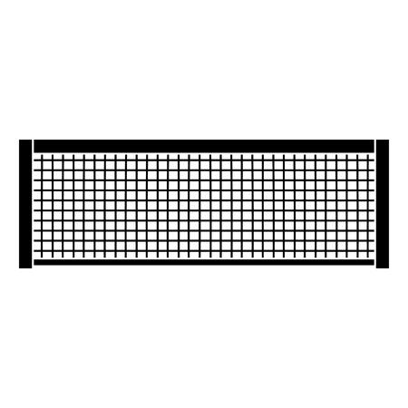 テニスグリッドロープラインスポーツアイコンベクトルイラスト