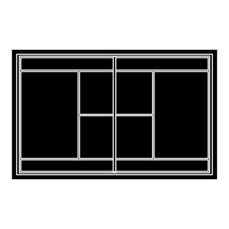 テニスフィールドコートグラスグリッドトップビューベクトルイラスト