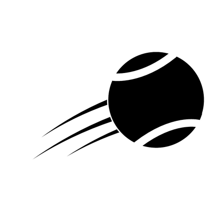flying tennis ball fast sport icon vector illsutration