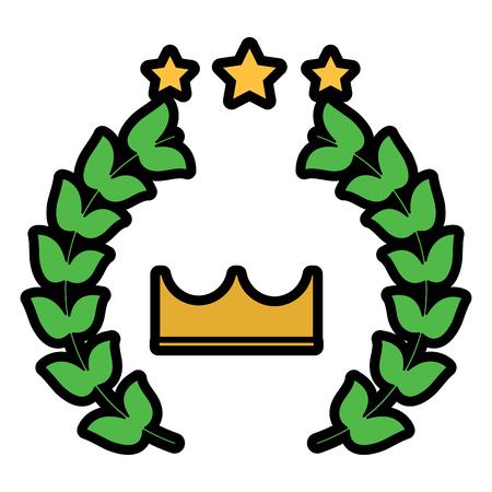 award crown wreath laurel honor sport vector illustration
