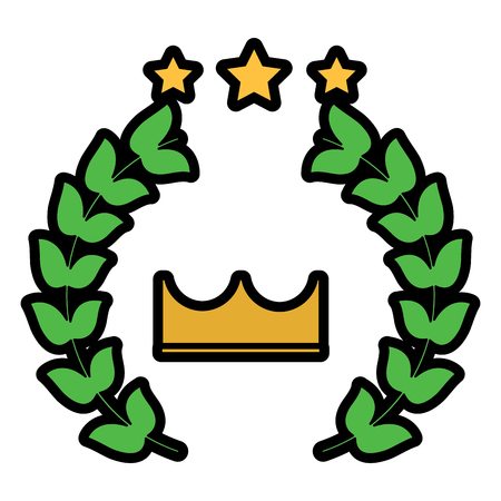 award crown wreath laurel honor sport vector illustration