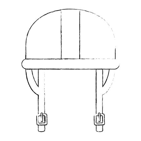 ontwerp van de het pictogram vectorillustratie van de motorhelm het klassieke Stock Illustratie