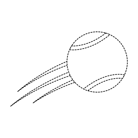 flying tennis ball fast sport icon vector illsutration