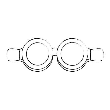Biker goggles icon