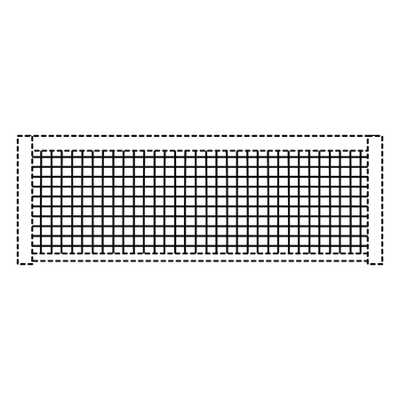 Tennis grid rope line icon