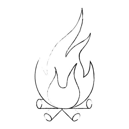 炎のアイコン  イラスト・ベクター素材