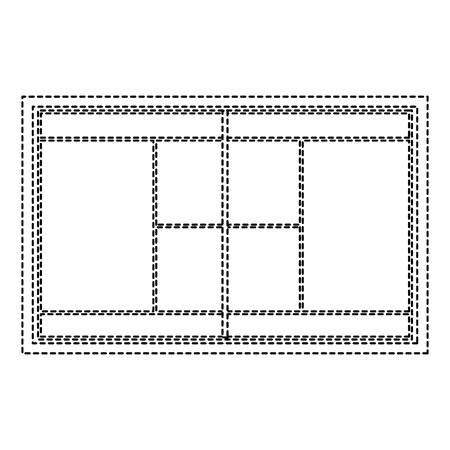 Tennis field court grass grid Illustration