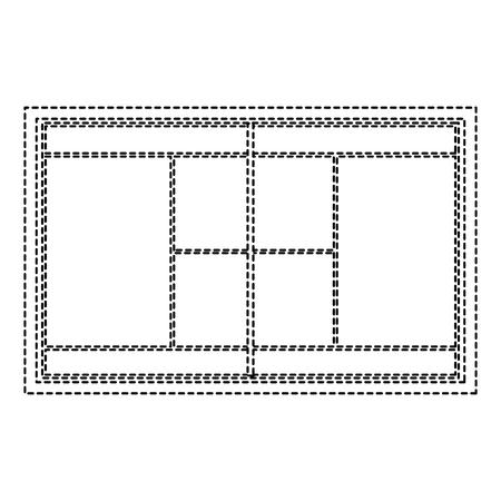 Tennis field court grass grid Ilustração