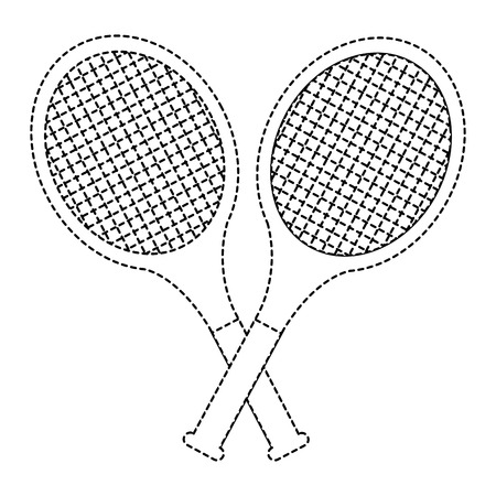 Crossed tennis rackets
