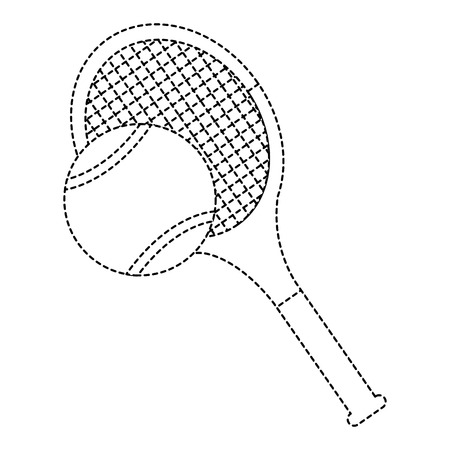 Tennis racket and ball Ilustrace