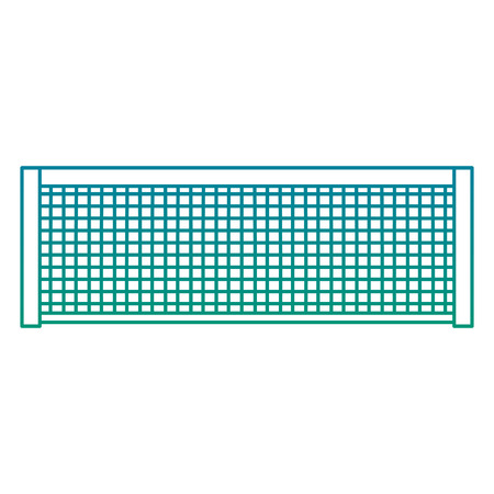 tennis grid rope line sport icon vector illustration
