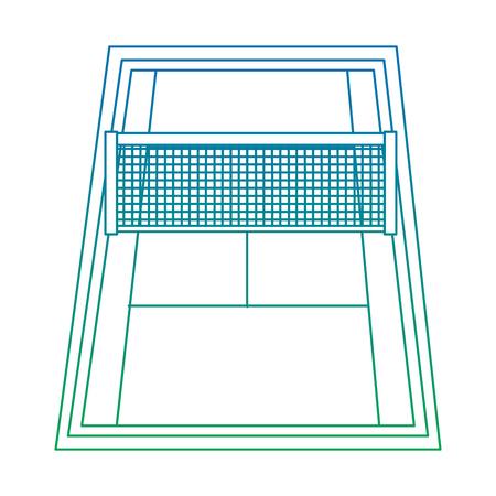 マーキングとグリッドベクトルイラストを持つテニスのゲームのためのフィールド
