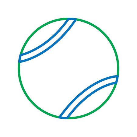 ball tennis sport equipment game icon vector illustration