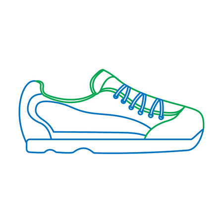 sneaker shoe icon image vector illustration design