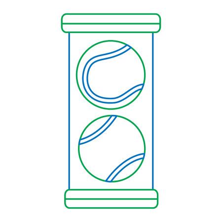 tennisballen pack pictogram afbeelding vector illustratie ontwerp