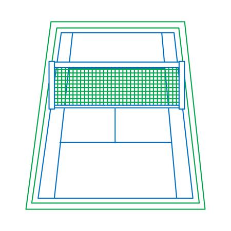 tennisbaan pictogram afbeelding vector illustratie ontwerp