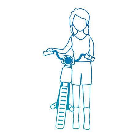 モーターサイクリストアバターキャラクターベクトルイラストデザイン  イラスト・ベクター素材