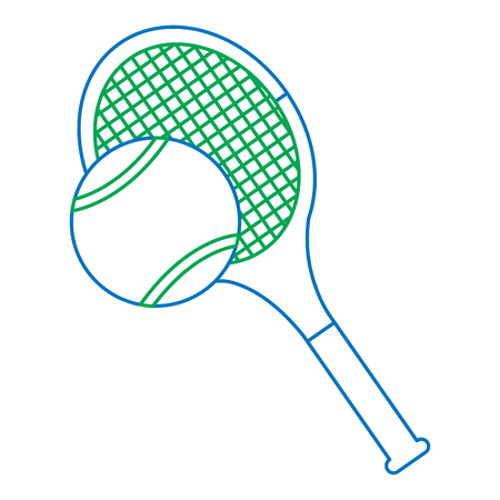 tennis racquet and ball icon image vector illustration design