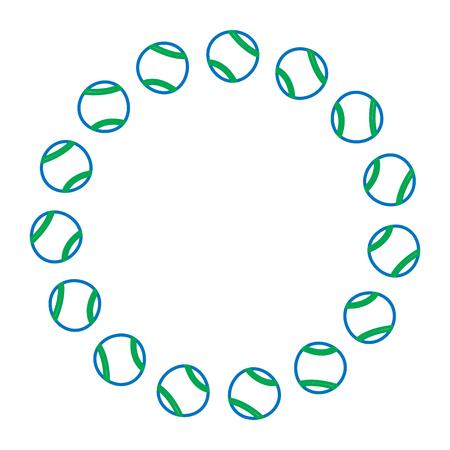 tennis balls circle emblem image vector illustration design Reklamní fotografie - 92274099