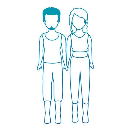 Motard brute couple avatar caractère vector illustration design Banque d'images - 92274200