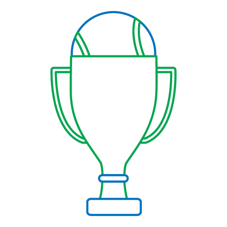 trophy with  tennis ball  icon image vector illustration design  Ilustração