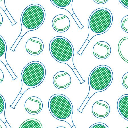 tennisracket en bal patroon afbeelding vector illustratie ontwerp Stock Illustratie