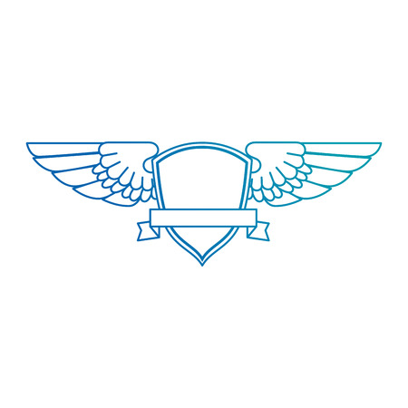 wings emblem isolated icon vector illustration design