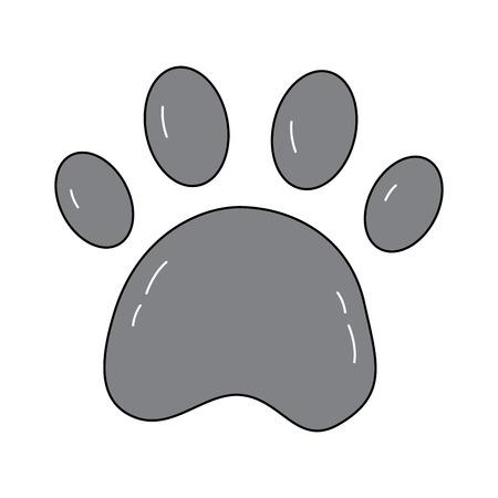 paw print pet icon image vector illustration design  向量圖像