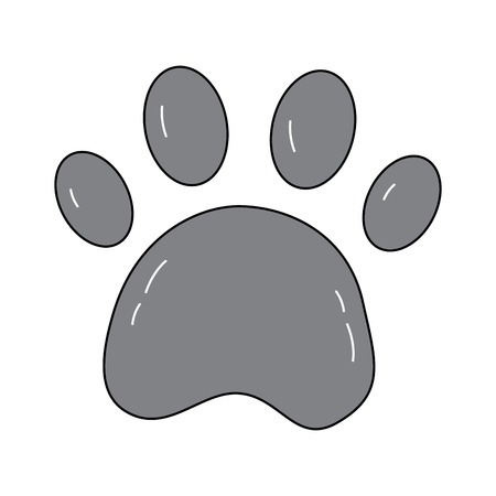 paw print pet icon image vector illustration design  Illustration