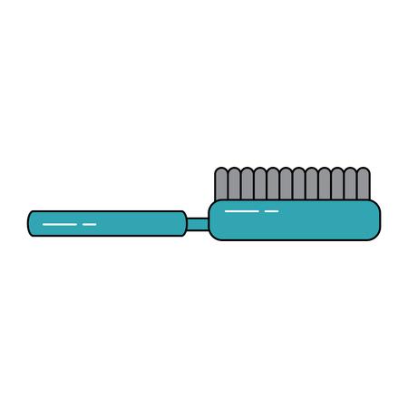 borstel kappers pictogram afbeelding vector illustratie ontwerp Stock Illustratie