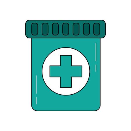 medication bottle icon image vector illustration design Vector Illustration