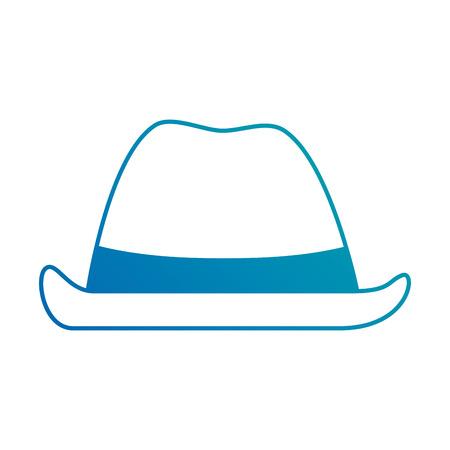 카우보이 모자 격리 된 아이콘 벡터 일러스트 디자인 일러스트