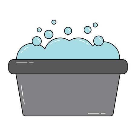 bathtub with foam icon image vector illustration design  Illustration