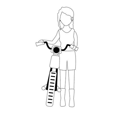Motorcyclist 아바타 문자 그림 디자인입니다.
