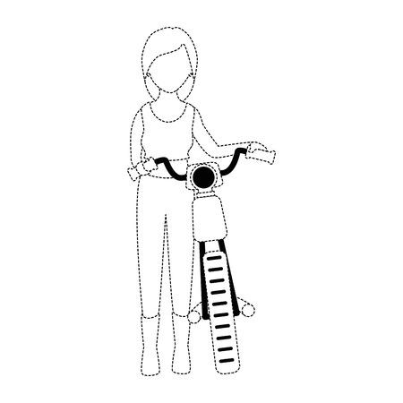 ●モーターサイクリストアバターキャラクターイラストデザイン。  イラスト・ベクター素材