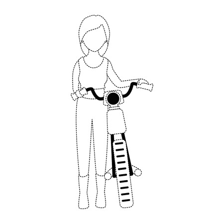 Motorcyclist avatar character illustration design.