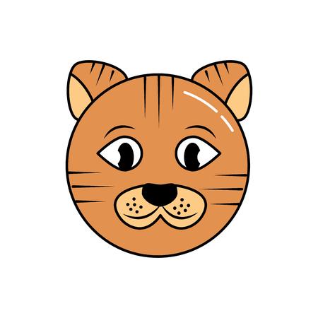 동물 얼굴 만화 애완 동물 아이콘 그림 디자인입니다. 일러스트